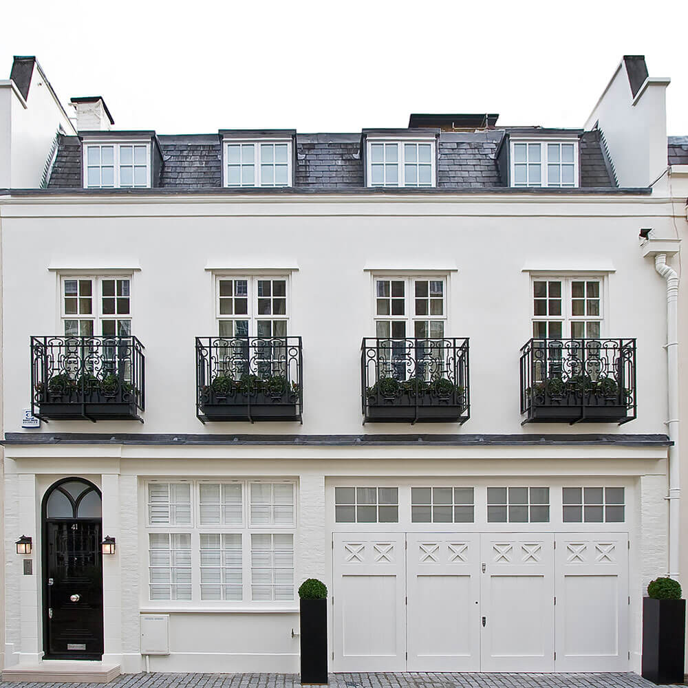 mews house in belgravia stanhope gate architecture. Black Bedroom Furniture Sets. Home Design Ideas