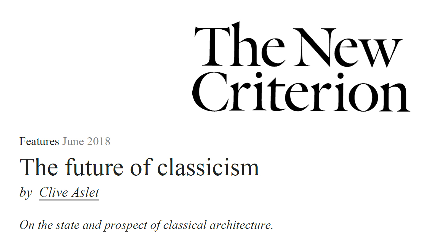 The Future of Classicism